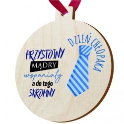 Drewniany medal - upominek na dzień chłopaka