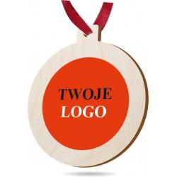 Bombka, zawieszka choinkowa z logo