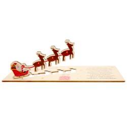 Kartka z życzeniami i logo - renifery