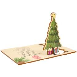 Kartka z życzeniami i logo - choinka