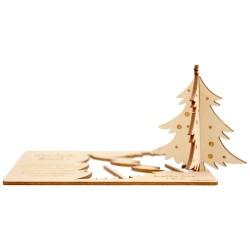Kartka z życzeniami i logo - drewno 2