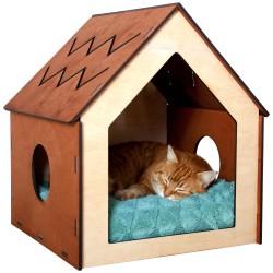 Nowoczesny domek budka dla kota legowisko