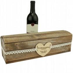 Skrzynka na wino - podziękowanie dla świadków