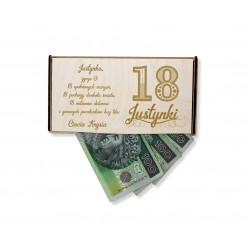 Drewniane pudełko na pieniądze - prezent na...