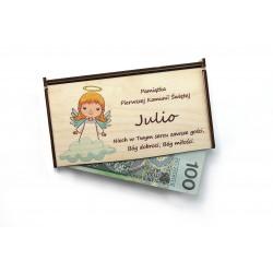 Pudełko na pieniądze - prezent na I Komunię Świętą